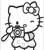 coloriage hello kitty 033