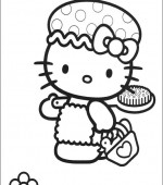coloriage hello kitty 034