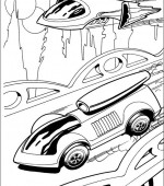 coloriage hot wheels 002