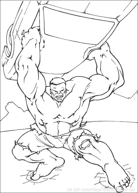 Coloriage à Imprimer Coloriage Hulk 003