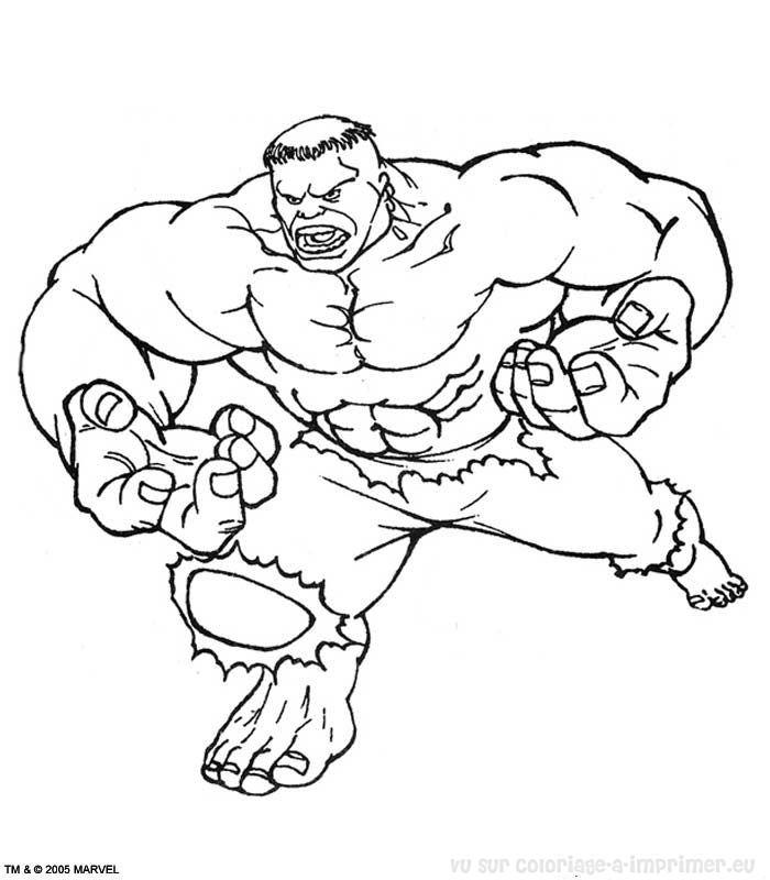 Hulk dessin - Hulk a imprimer ...