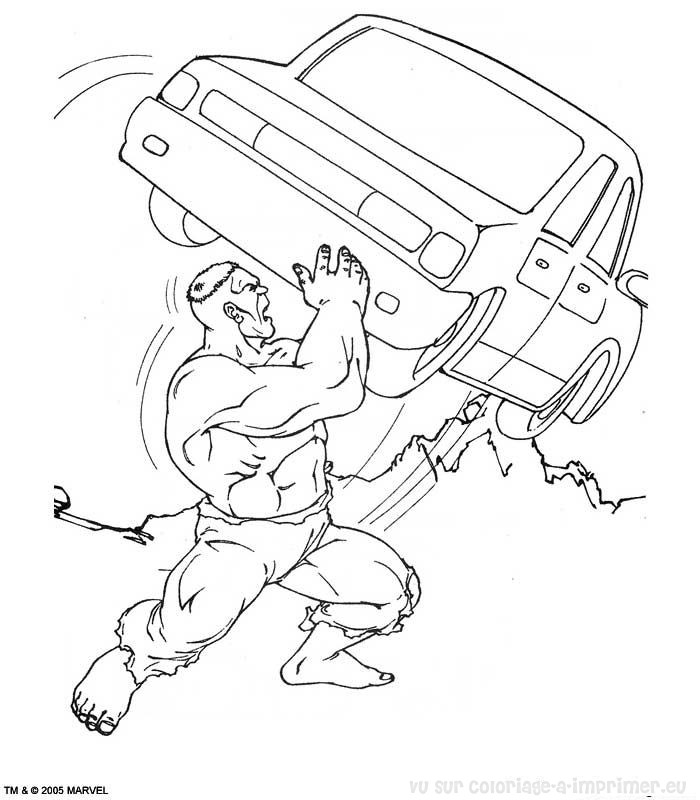 Coloriage à Imprimer Coloriage Hulk 029