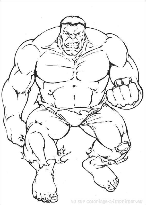 coloriage à imprimer coloriage hulk 063