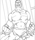 Coloriage Hulk Gratuit A Imprimer
