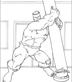 coloriage hulk 006
