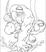 Coloriage hulk gratuit a imprimer - Hulk a imprimer ...