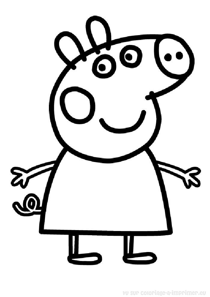 Coloriage imprimer coloriage peppa pig 002 - Dessin a imprimer peppa pig ...