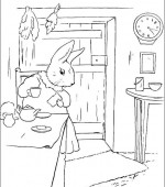 coloriage peter lapin 001