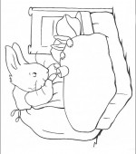 coloriage peter lapin 010