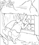 coloriage peter lapin 019