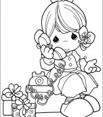 coloriage precious moments 001