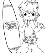 coloriage precious moments 009
