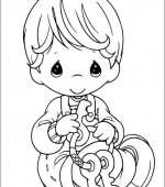coloriage precious moments 014