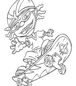 coloriage rocket power 001