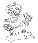 coloriage rocket power 012