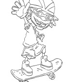 coloriage rocket power 071