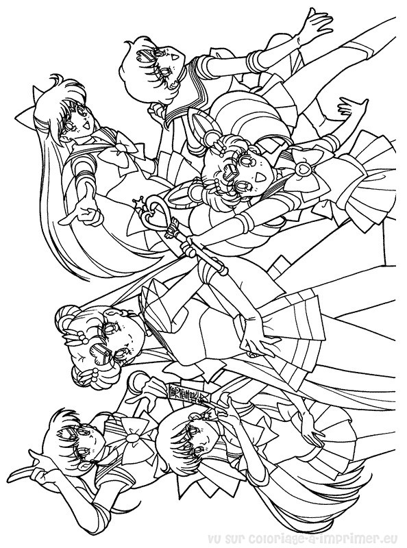 Coloriage A Imprimer Coloriage Sailor Moon 022