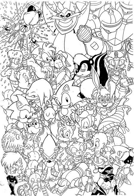 Index Of Coloriages Heros Tv Sonic
