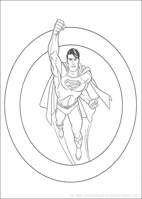 coloriage  u00e0 imprimer coloriage superman 009