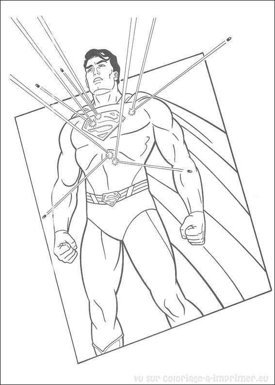 coloriage à imprimer coloriage superman 049