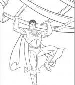 coloriage superman 003