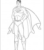 coloriage superman 005