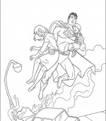 coloriage superman 011