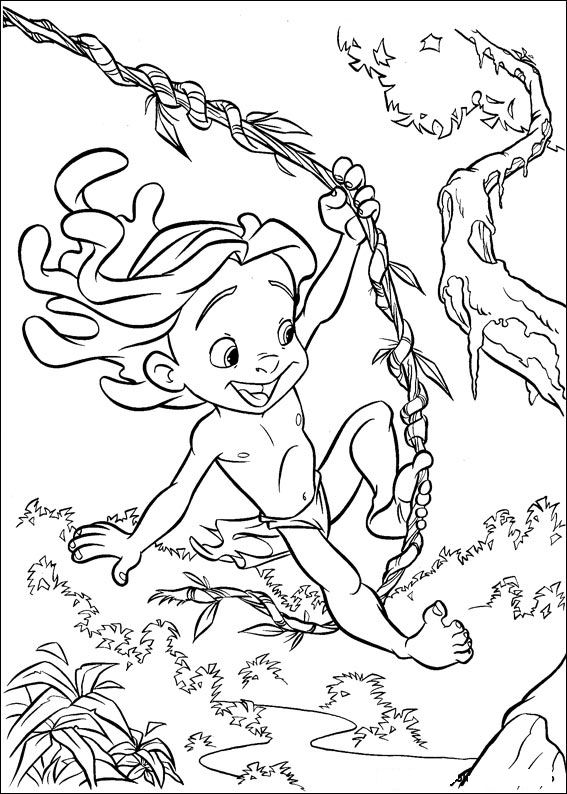 coloriage tarzan 062 - Coloriage Tarzan 3
