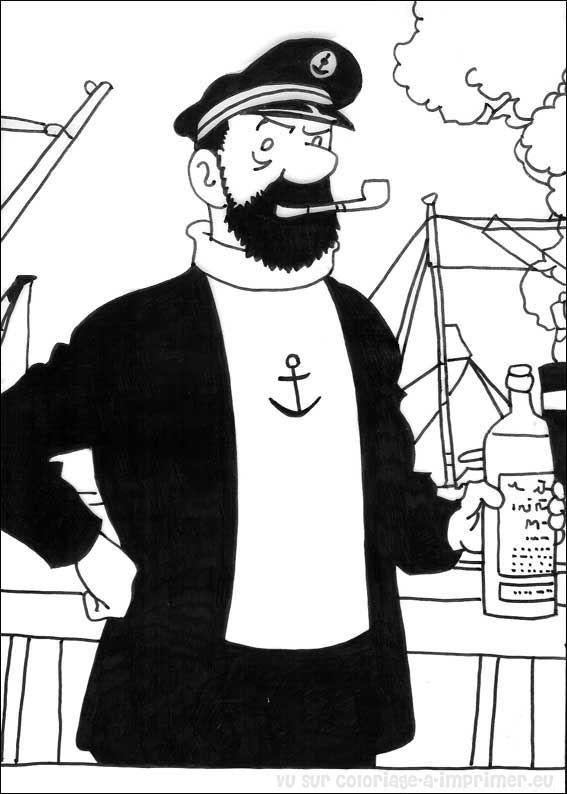 Coloriage A Imprimer Coloriage Tintin 007