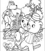 Coloriage trois petit cochon gratuit a imprimer - Dessin 3 petit cochon ...