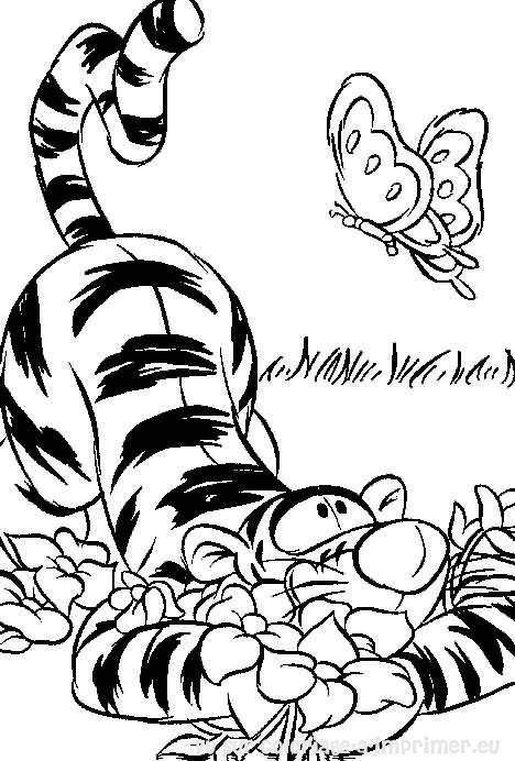 coloriage à imprimer coloriage winnie-tigrou 003