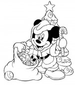 coloriage noel disney 016