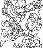 coloriage noel disney 017