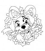 coloriage noel disney 022