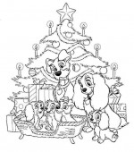 coloriage noel disney 029