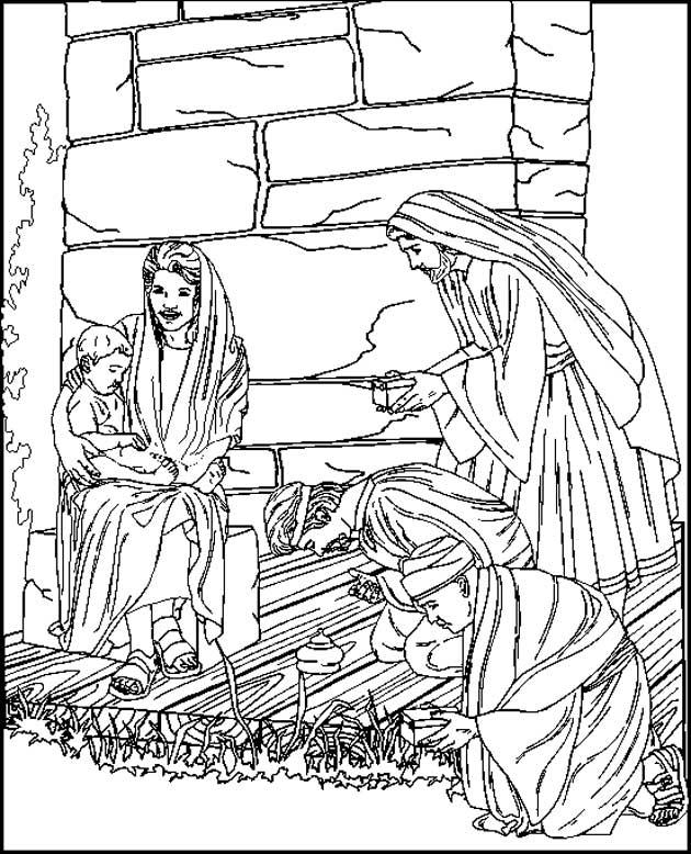 coloriage noel jesus