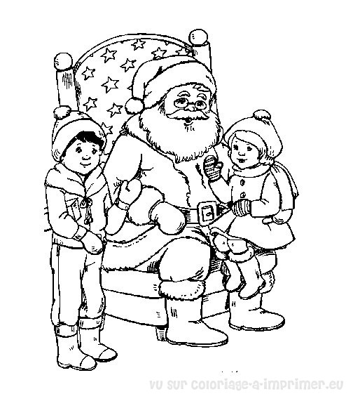 free coloring pages of pere noel. Black Bedroom Furniture Sets. Home Design Ideas