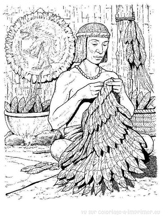 Coloriage imprimer coloriage azteque 001 - Dessin azteque ...