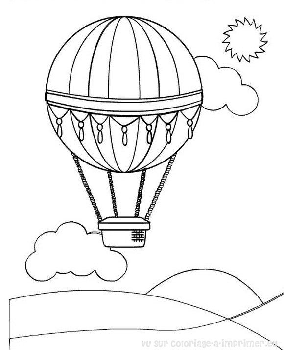 Coloriage A Imprimer Coloriage Montgolfiere 000
