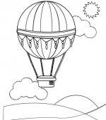 Coloriage montgolfiere gratuit a imprimer - Dessin montgolfiere ...