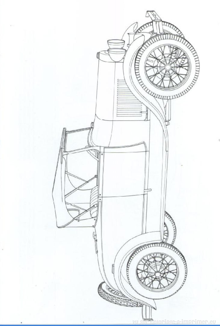 Vieille voiture americaine - Voiture dessiner ...