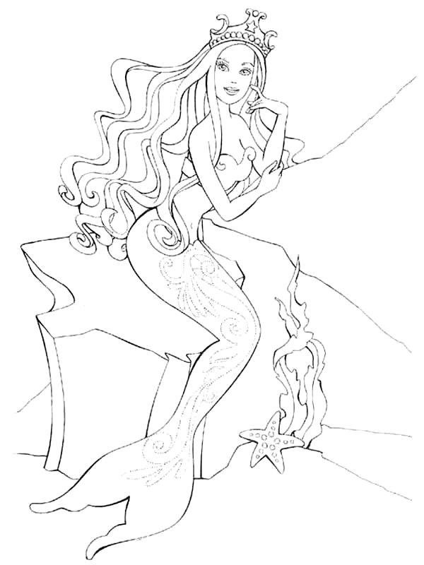 Ariel Et Triton Est Un Coloriage De La Petite Sirene