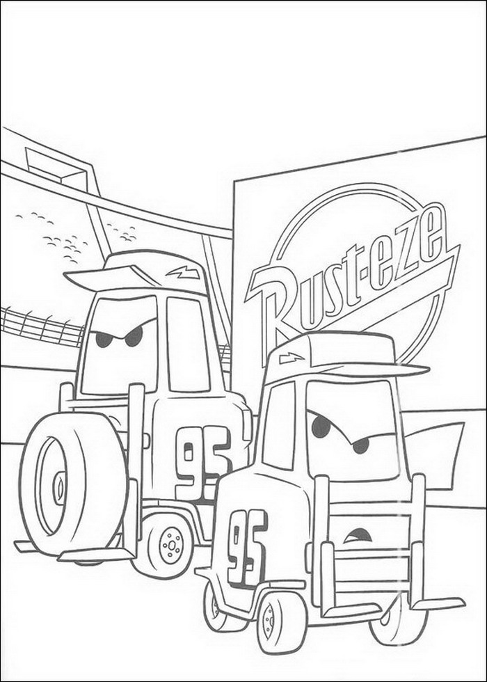 Index Of Coloriages Films Cars Quatre Roues Pixar