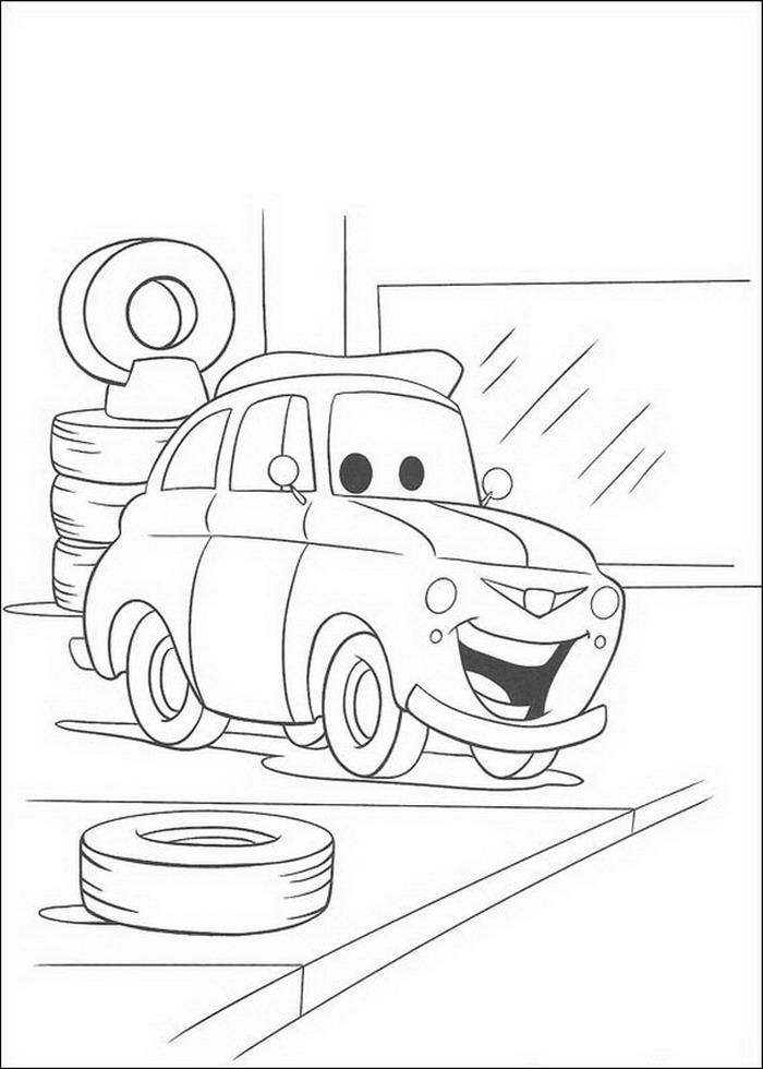 Index Of Coloriages Films Cars Quatre Roues Pixar