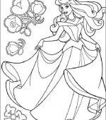 Coloriage La Belle Au Bois Dormant Gratuit A Imprimer