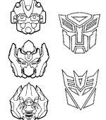 Coloriage Facile Transformers.Coloriage Transformers Gratuit A Imprimer