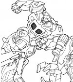Coloriage Transformers Gratuit A Imprimer