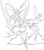 coloriage barbie fairytopia gratuit, a imprimer