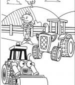 Coloriage Le Camion De Bob Le Bricoleur.Coloriage Bob Le Bricoleur Gratuit A Imprimer
