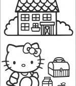 coloriage hello kitty gratuit, a imprimer